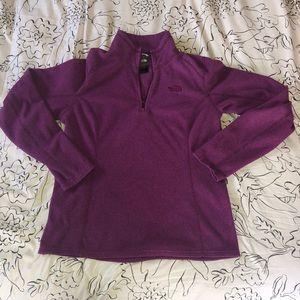 Women's 1/4 zip North Face fleece size medium